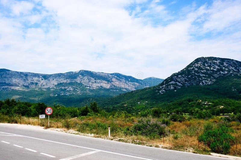 Landschap met Bergen, Albanië, Europa royalty-vrije stock afbeelding