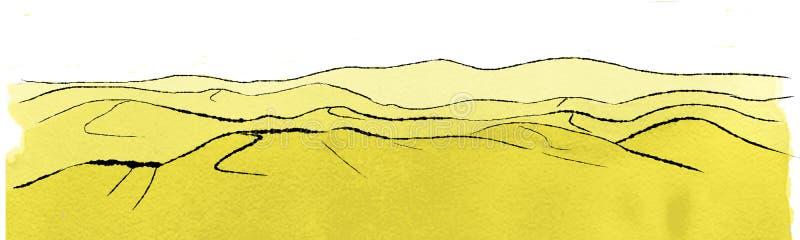 Landschap met Duinen vector illustratie