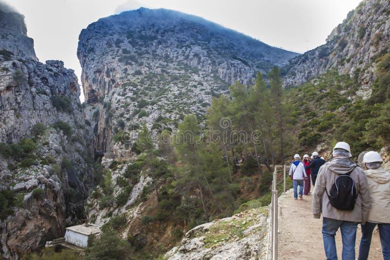 Landschap met het hoogtepunt van de heuvelscanion van ochtendmist stock afbeeldingen