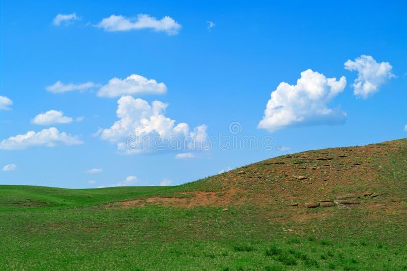 Landschap met heuvels royalty-vrije stock foto