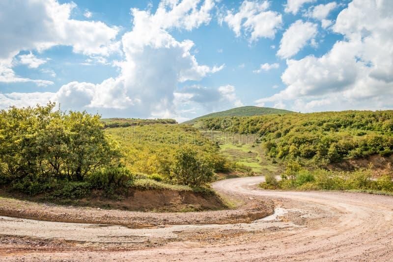 Landschap met karspoor in bergen, Turkije royalty-vrije stock foto's