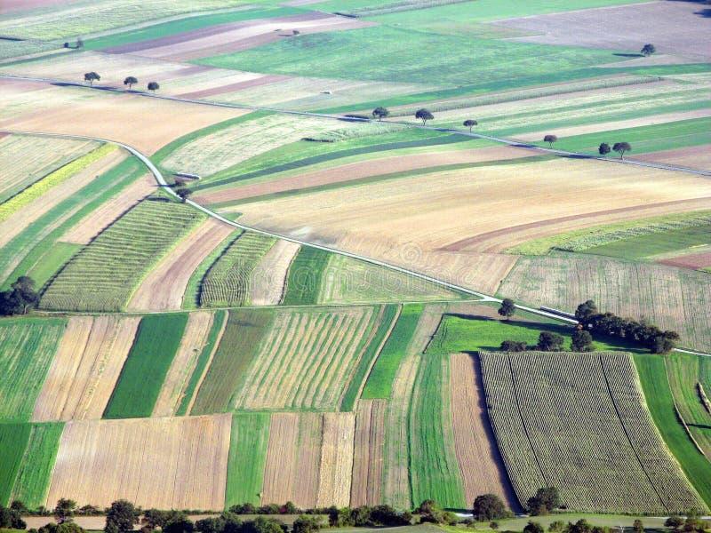 Landschap met kleine gebieden royalty-vrije stock foto's