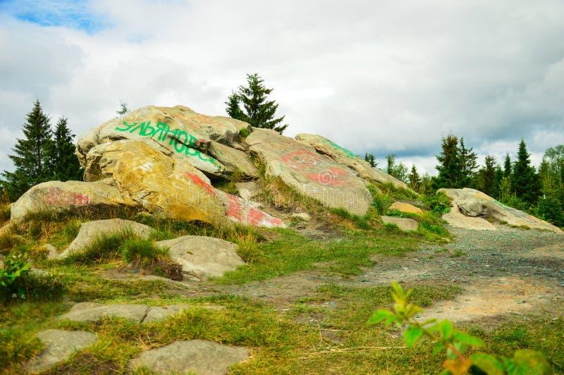 Landschap met stenen stock fotografie