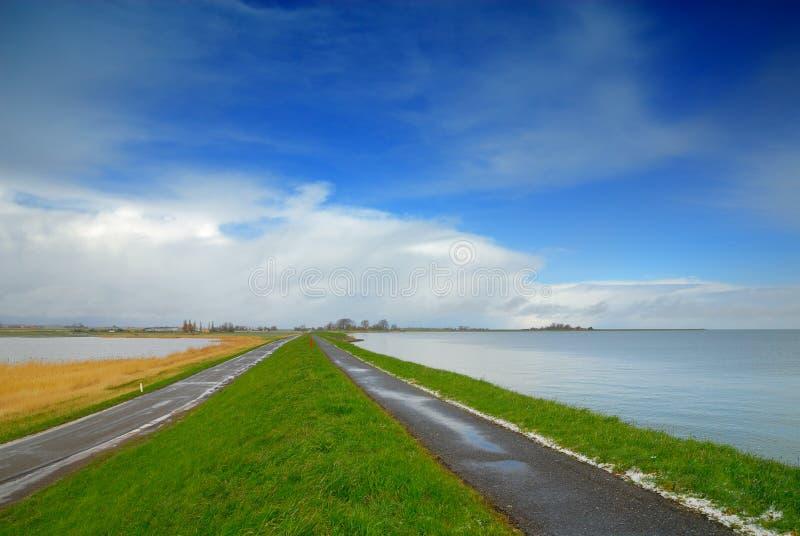 Landschap in Nederland royalty-vrije stock afbeeldingen