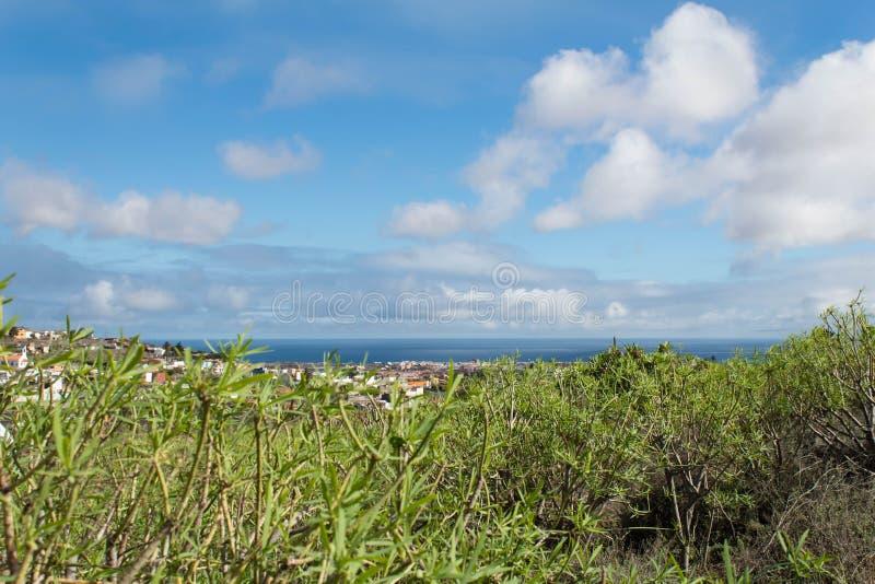 Landschap op de overzeese Grote Kanarie stock afbeelding