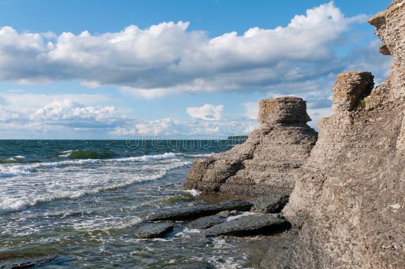 Landschap op het eiland Ãland, Zweden stock foto's