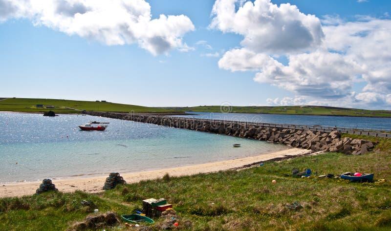 Landschap op Orkney royalty-vrije stock afbeelding