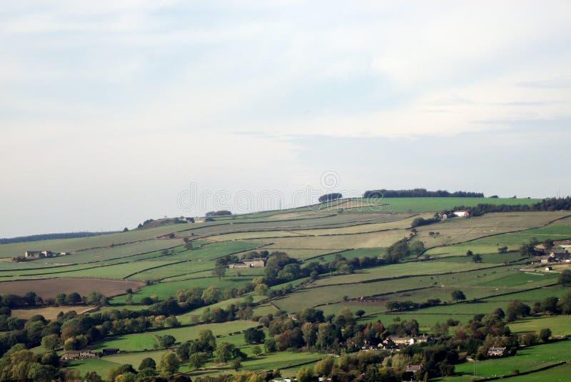 Landschap over Bradfield, Sheffield. stock afbeeldingen