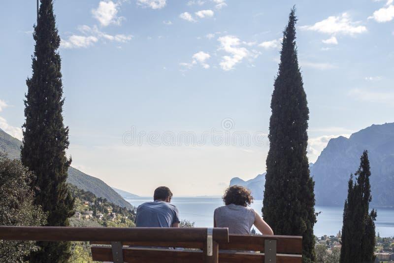 Landschap over trentinovallei royalty-vrije stock afbeelding