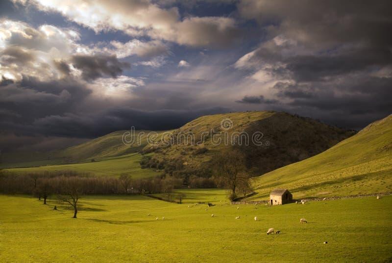 Landschap in PiekDistrict. Engeland royalty-vrije stock afbeeldingen