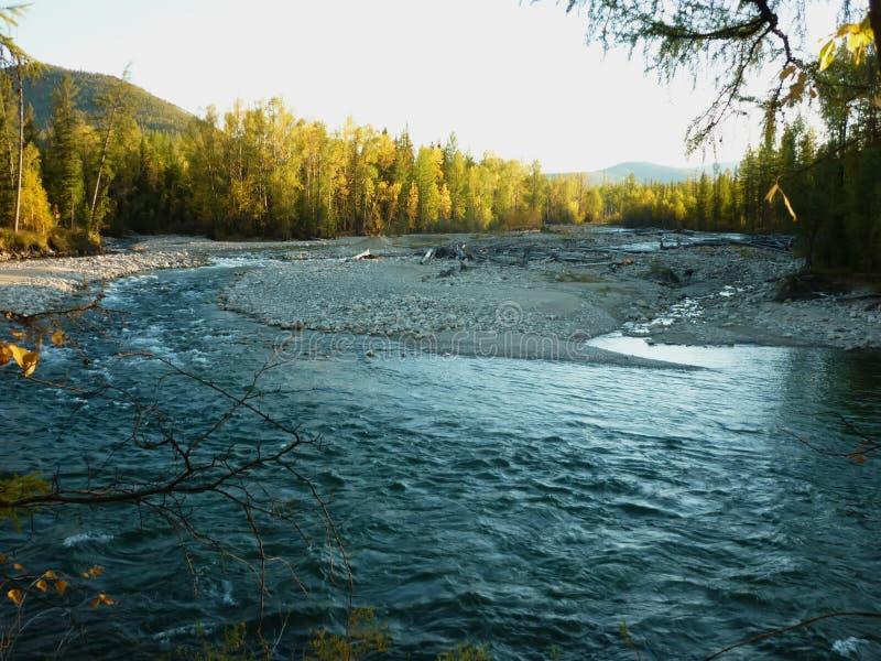 Landschap, rivier stock afbeelding