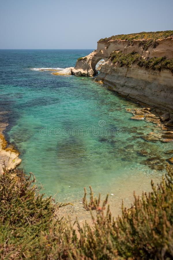 Landschap rond Marsascala Malta royalty-vrije stock afbeelding