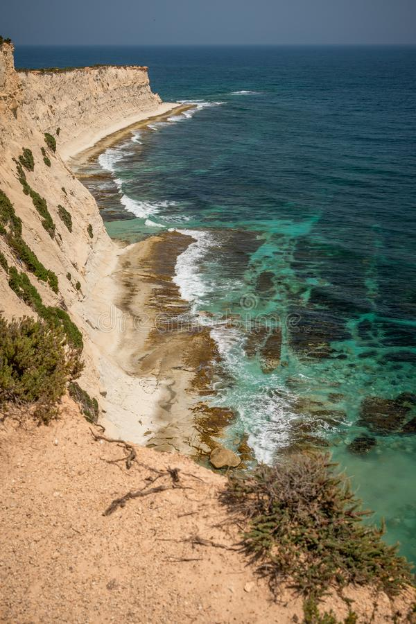 Landschap rond Marsascala Malta royalty-vrije stock foto
