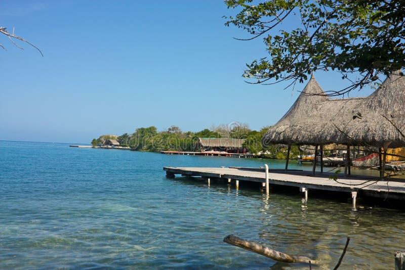 Landschap in Rosario Islands, dichtbij Cartagena DE Indias, Cari stock fotografie