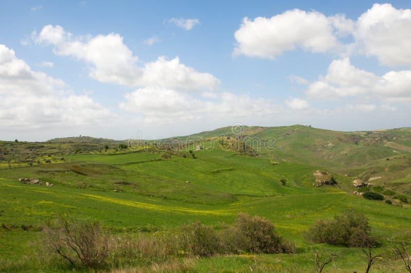 Landschap in Sicilië, Italië royalty-vrije stock afbeelding