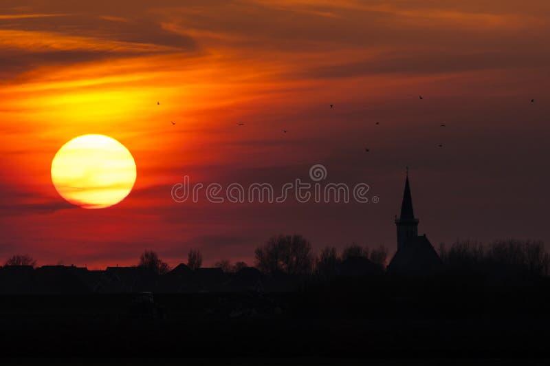 Landschap in Texel royalty-vrije stock foto