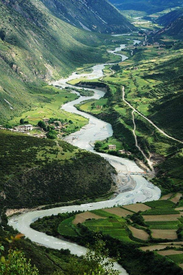 Landschap in Tibet royalty-vrije stock foto's