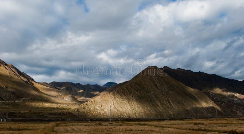 Landschap in Tibet royalty-vrije stock foto