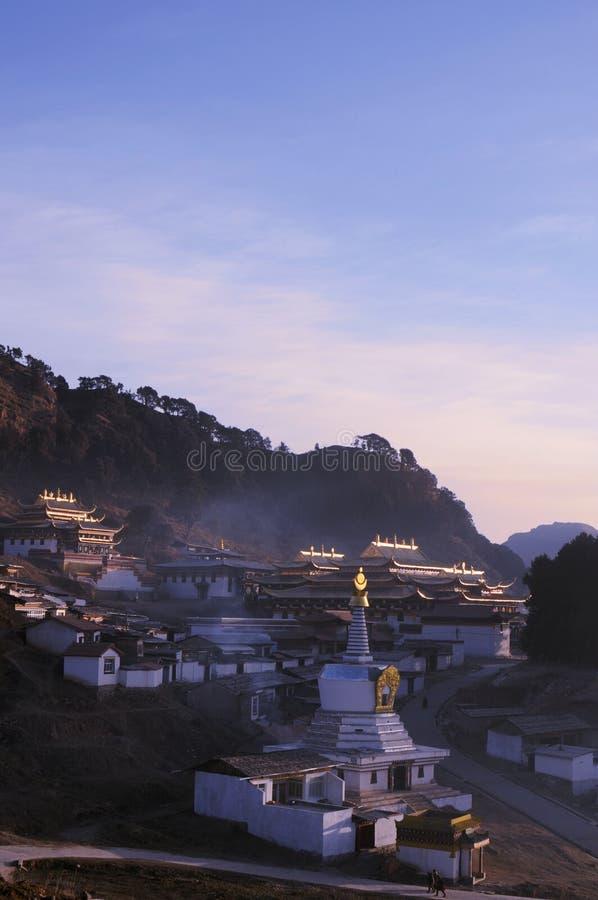 Landschap in Tibet stock foto
