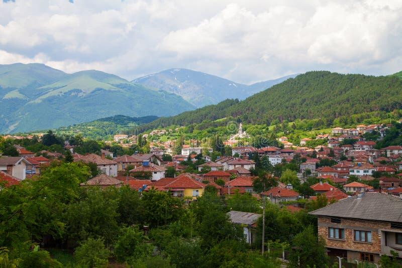 Landschap van aard dichtbij Kalofer-stad, Stara Plani stock foto's