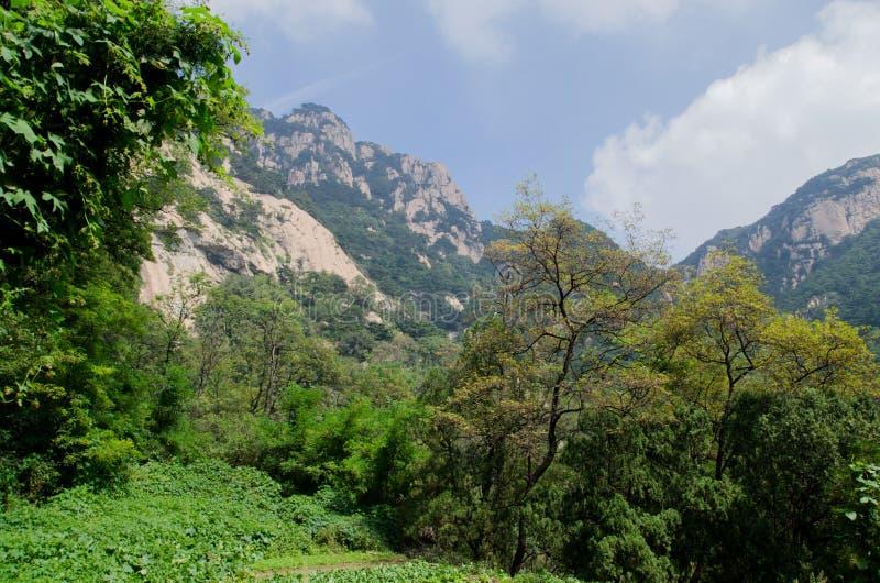 Landschap van berg Taishan in China royalty-vrije stock foto's