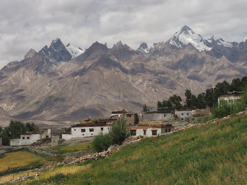 Download Landschap Van Bergdorp In Tibet, Het Himalayagebergte: Plattelandshuisjes En Gebieden Op Een Achtergrond Van Hoge Pieken Stock Afbeelding - Afbeelding bestaande uit nepal, himalayagebergte: 107702249