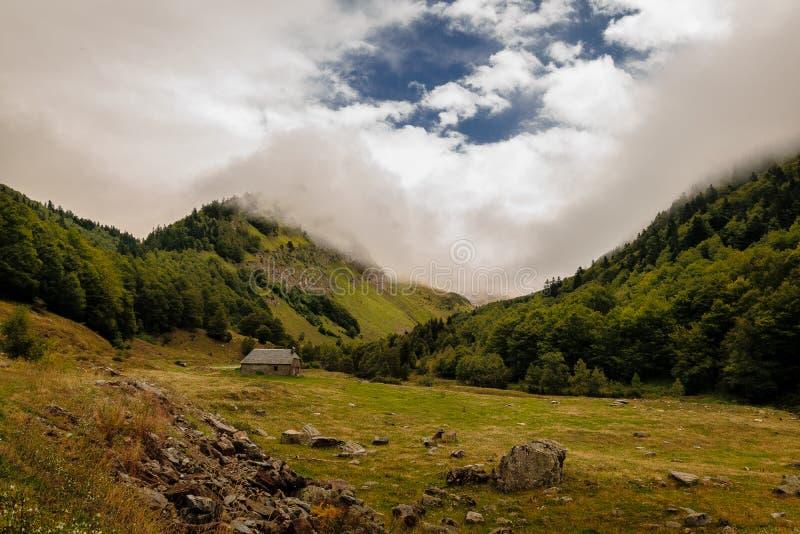 Landschap van Bergen in Catalonië royalty-vrije stock afbeelding