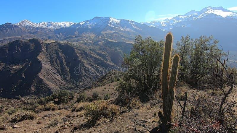 Landschap van bergen en vallei royalty-vrije stock foto