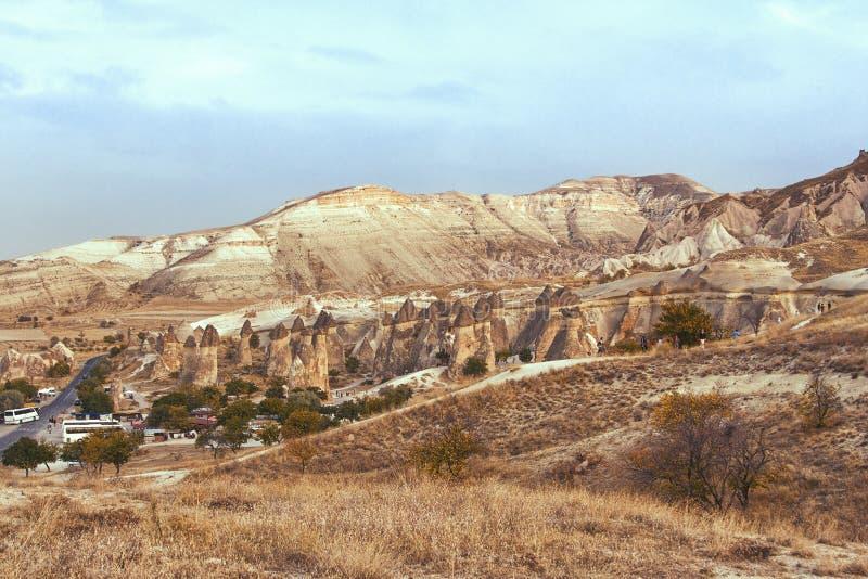 Landschap van cappadocia, Turkije stock foto's
