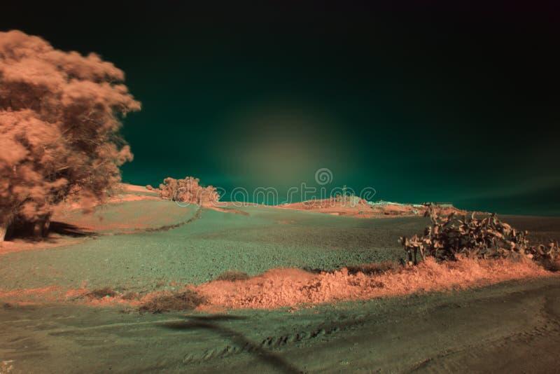 Landschap van Carmona infrarode fotografie 18 royalty-vrije stock fotografie