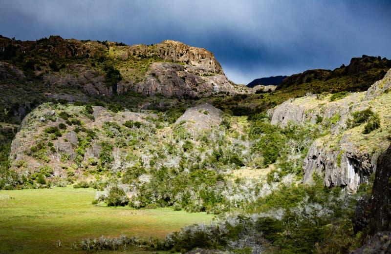 Landschap van Chileens Patagonië royalty-vrije stock foto's