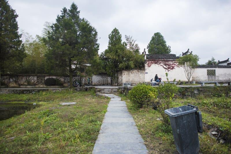 Landschap van de Anhui het huangshan pas stock foto's
