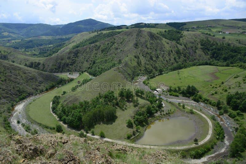 Landschap van de berg, Eagle-nest royalty-vrije stock foto
