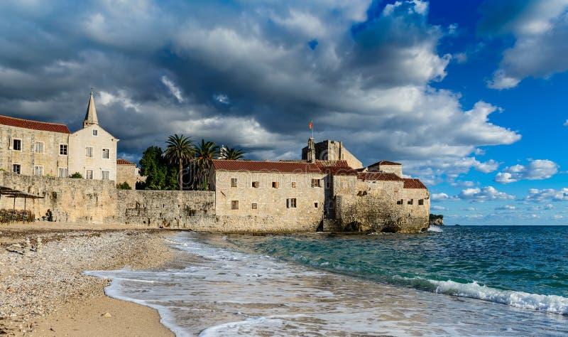 Landschap van de Budva het Oude stad, Montenegro royalty-vrije stock fotografie
