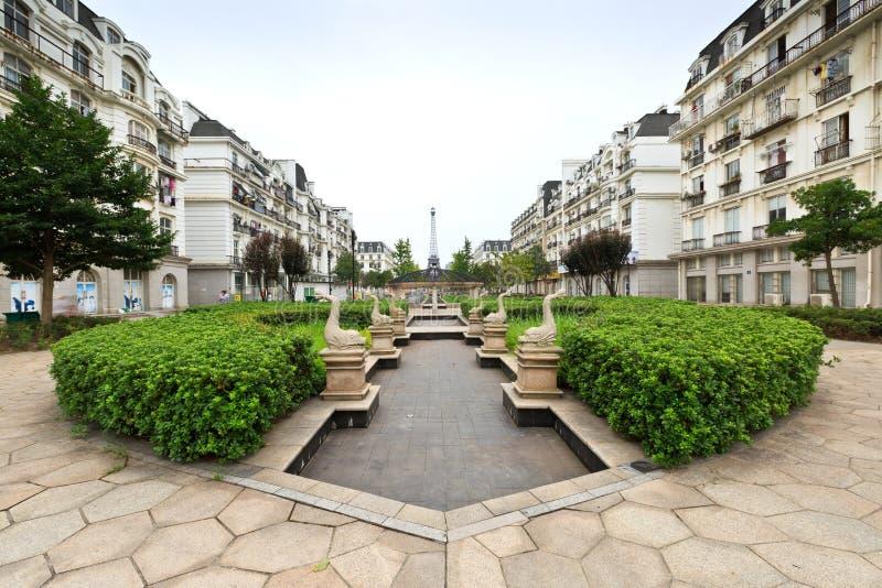 landschap van de hangzhou het Franse architectuur royalty-vrije stock foto