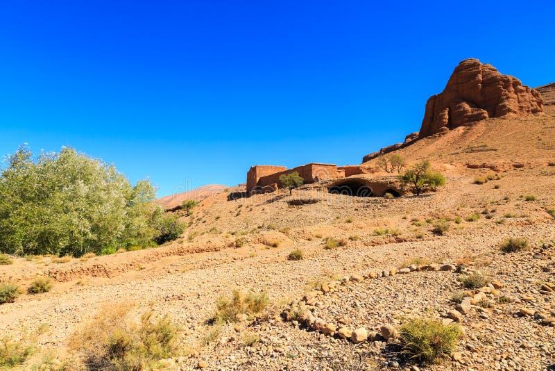 Landschap van de heuvels van de atlas in Marokko stock fotografie