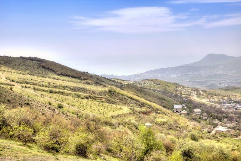 Landschap van de Krim, mening van een berg Demerdzhi royalty-vrije stock foto's