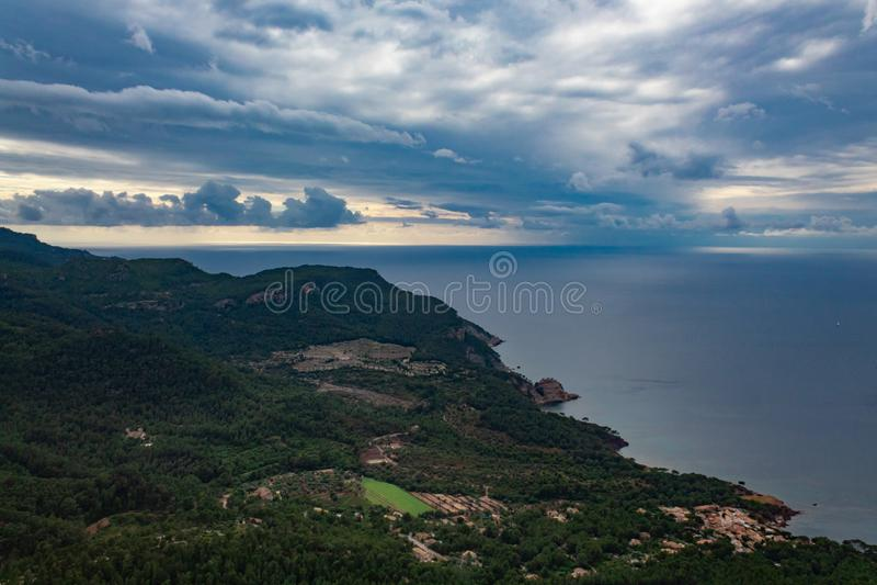 Landschap van de kust van Mallorca royalty-vrije stock foto