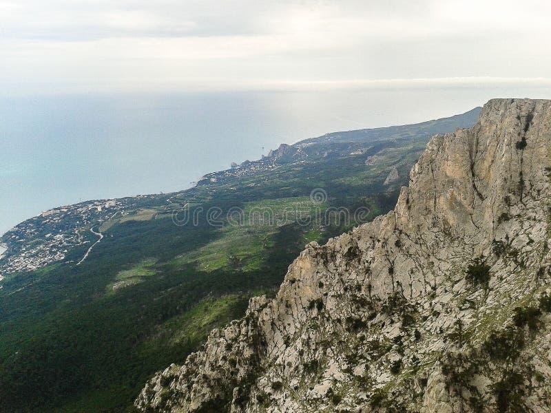 Landschap van de kust van de Krim stock foto's