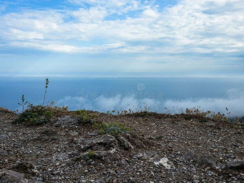 Landschap van de kust van de Krim stock foto