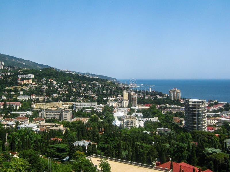 Landschap van de kust van de Krim royalty-vrije stock foto's