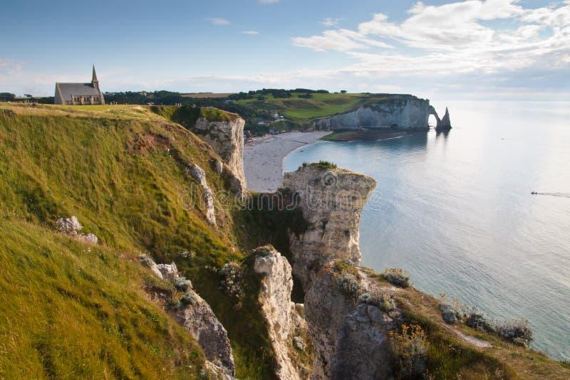 Landschap van de kust van Normandië in Frankrijk royalty-vrije stock foto's