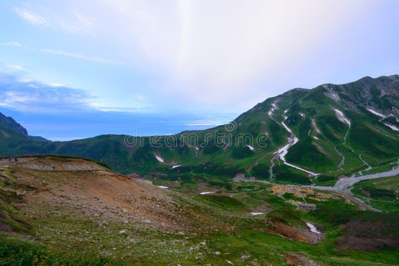 Landschap van de Noordelijke Alpen van Japan royalty-vrije stock afbeelding
