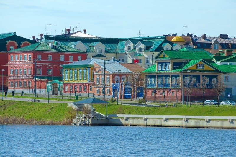 Landschap van de Tatar nederzetting, Kazan stock foto's