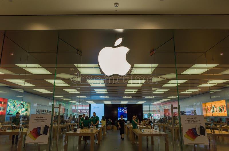 Landschap van de de telefoonopslag van Apple het mobiele in Chengdu, China royalty-vrije stock foto's