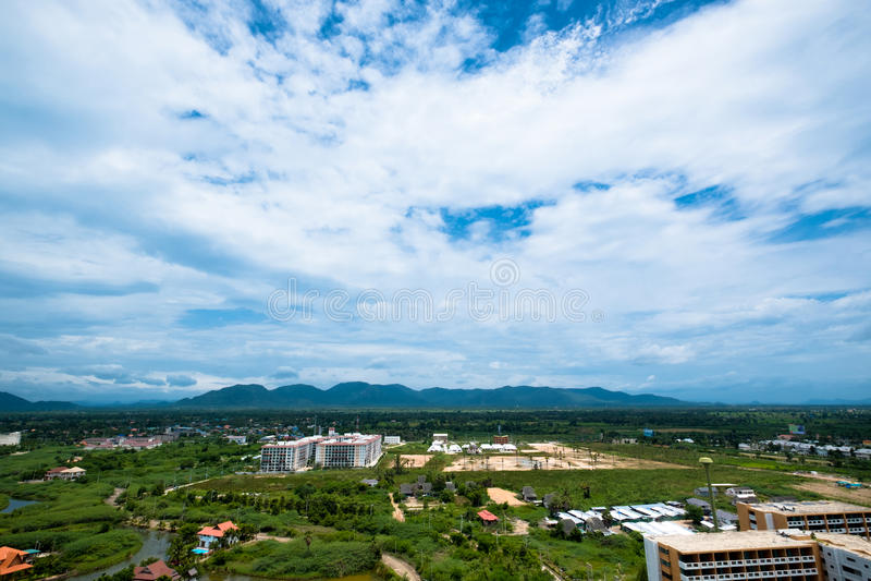 Landschap van de upcountry mening in Thailand stock afbeelding