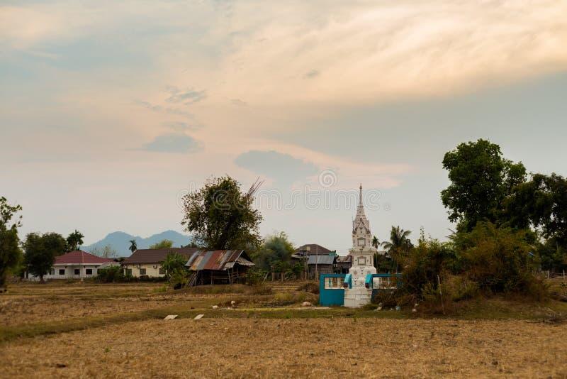 Landschap van Don Det Laos royalty-vrije stock foto's