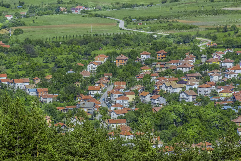 Landschap van een dorp royalty-vrije stock afbeeldingen