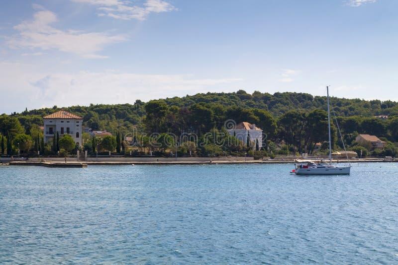 Landschap van een Zlarin-eiland royalty-vrije stock afbeeldingen