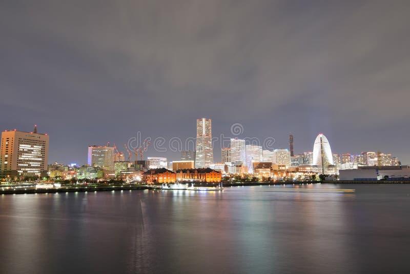Landschap van gebied het van de binnenstad van Minatomirai in Yokohama, Japan royalty-vrije stock fotografie